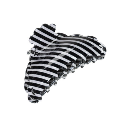 Elly Stripe Hårklemme (Black/White Stripe)