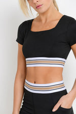 Let's Taupe About It Band Square-Neck Crop Top