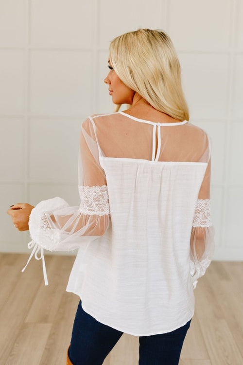 Sheer Goes Nothing Lace Top