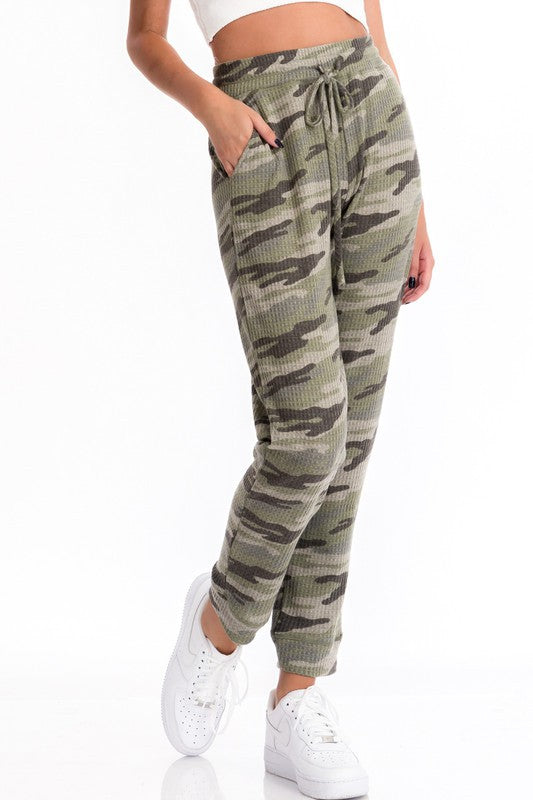 Love is War Camo Print Thermal Joggers