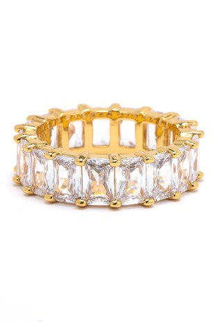 Baguette Studded Band Ring