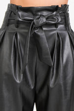 Faux-Ever Chic High Waisted Leather Pants