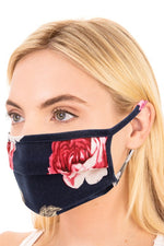 Rose Print Folded Face Mask