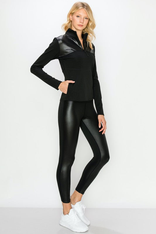 Glossy Accent Leggings