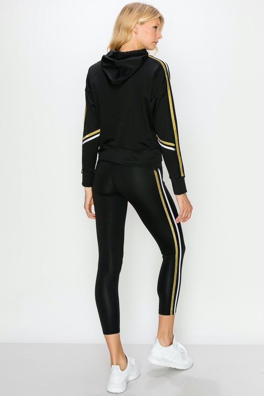 Some Stripe of Way Metallic Leggings