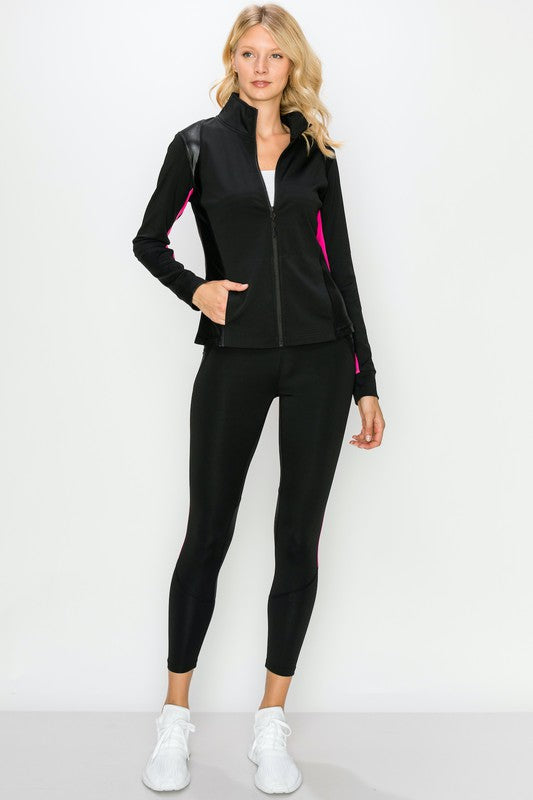 Color Block Active Zip-Up Jacket