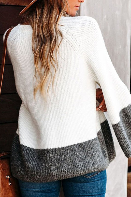 Sweater Weather Long Bell Sleeve Knit Top