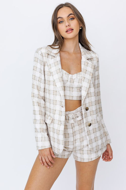 Check Me Out Gingham Blazer