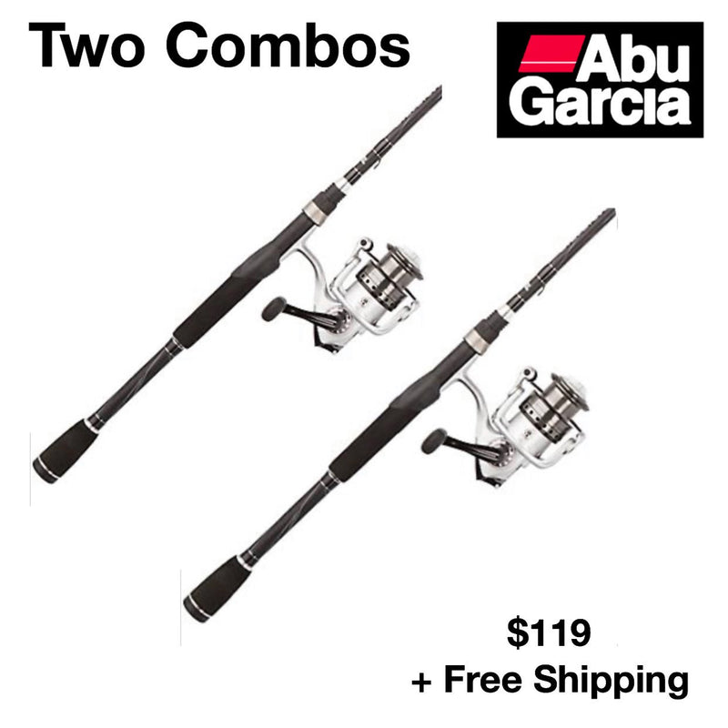 (TWO SPINNING COMBOS) ABU GARCIA SILVER MAX ROD & REEL