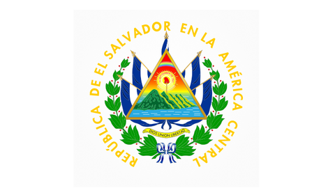 El Salvador National Emblem - High Quality PVC Decal x 3