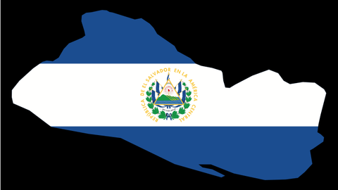 El Salvador Map with Flag Overlay- High Quality PVC Decal x 3