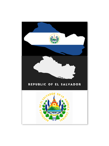 El Salvador - 3 x Decal Combo