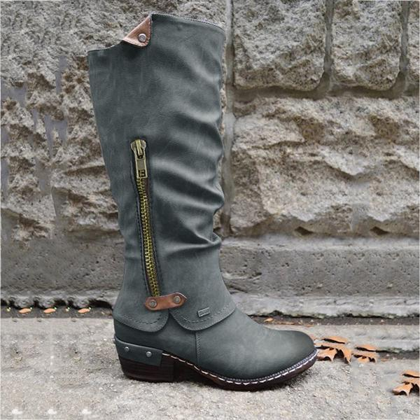 【50% OFF Flash Sale& Free Shipping】2020 autumn & winter Mid Heel Vintage High Boots(Credit Card Money Wallet Pocket)