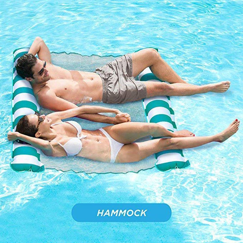 4-in-1 Multi-Purpose Inflatable Double Double floating rowHammock Portable Pool Float