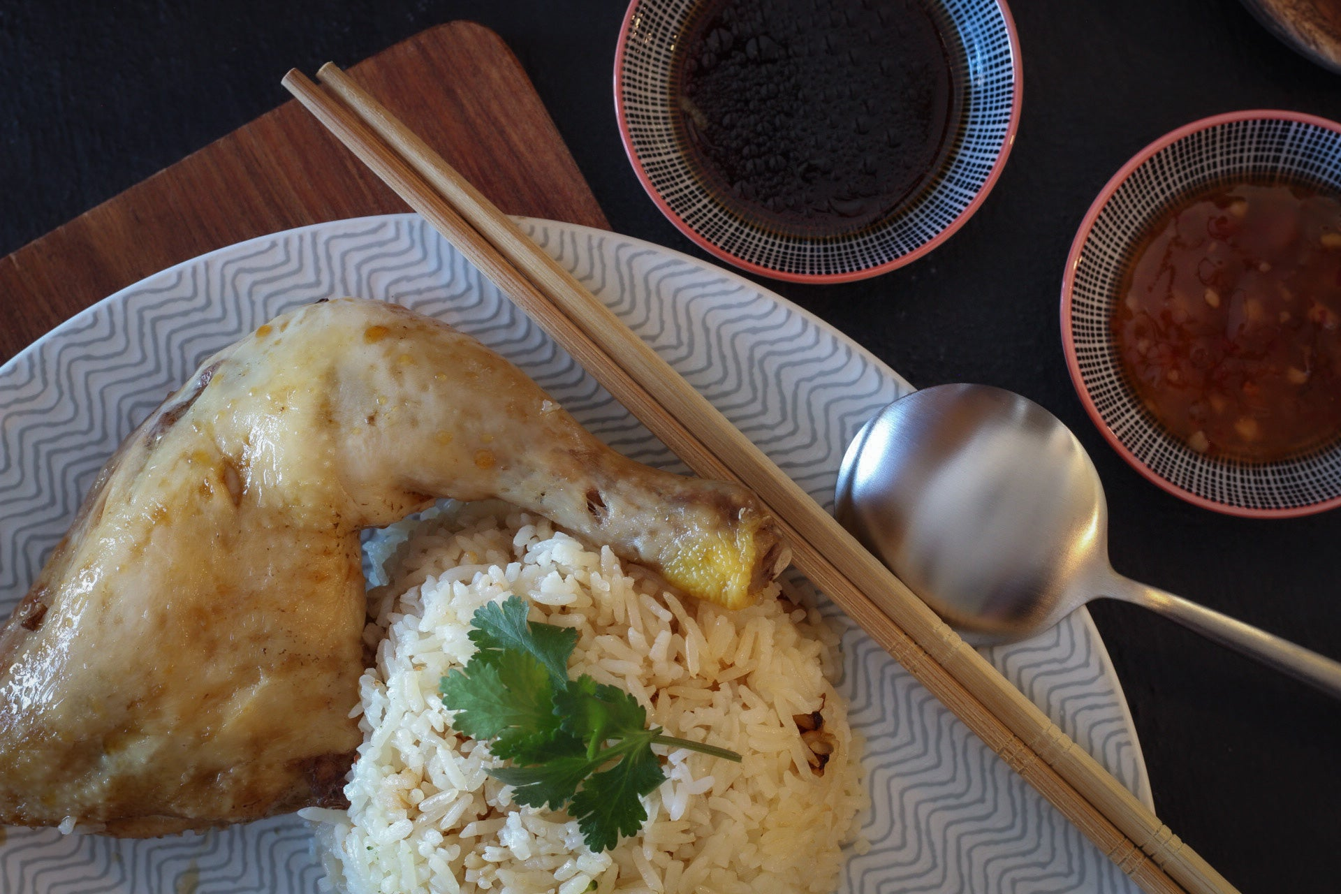 Hainanese Chicken Rice </br> 海南雞飯