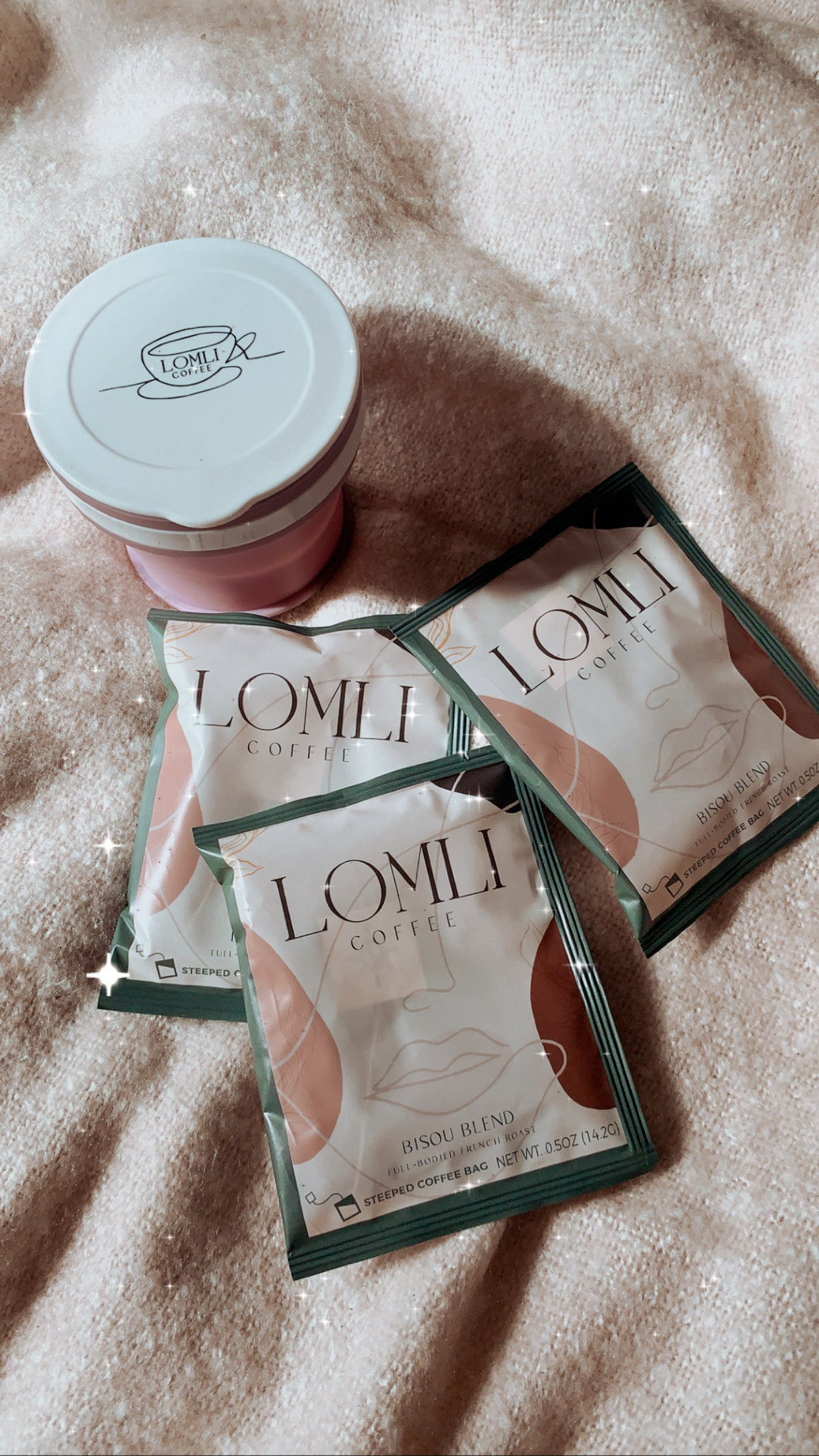 SOULMATE BUNDLE: MAUVE WANDERLUST COLLAPSIBLE MUG + THREE LOMLI COFFEES - lomlicoffee