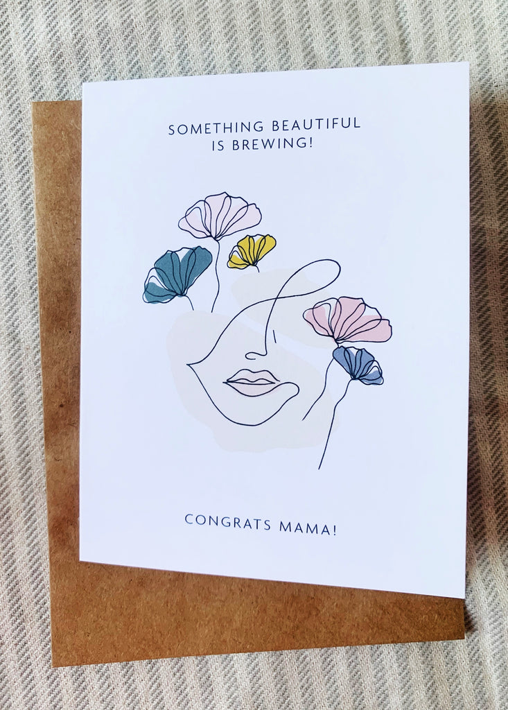 CONGRATS MAMA GREETING CARD - lomlicoffee
