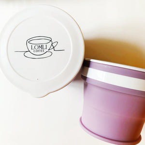 WANDERLUST COLLAPSIBLE TRAVEL MUG - MAUVE - lomlicoffee