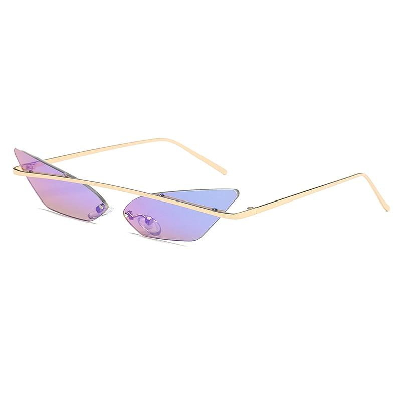2030 Cat-eye Sunglasses Sunglasses Posh Loox Violet x Cyan poshloox