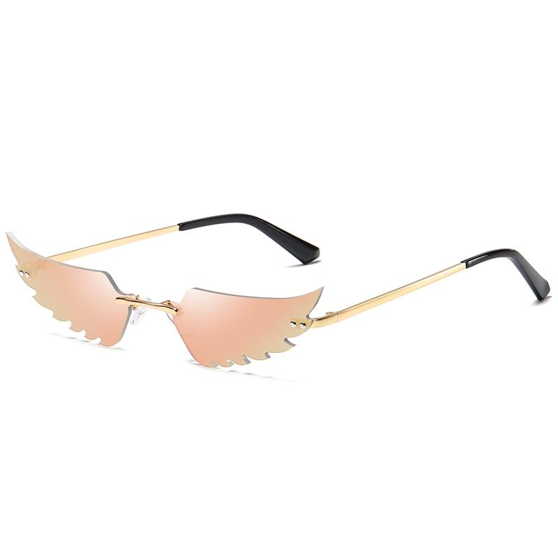 Angel Wings Sunglasses Sunglasses Posh Loox Gold x Champaign poshloox