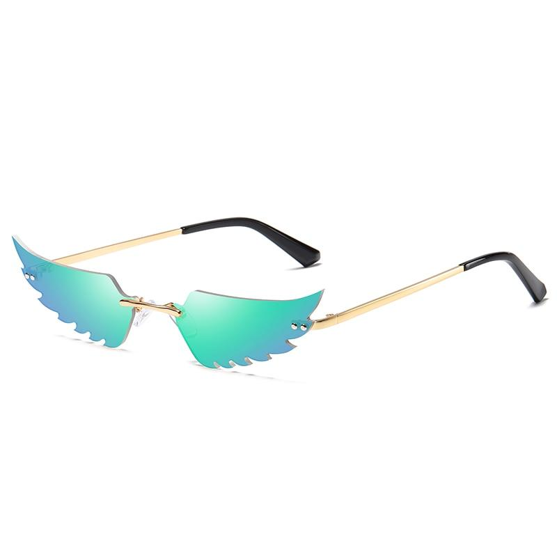 Angel Wings Sunglasses Sunglasses Posh Loox Gold x Mint poshloox