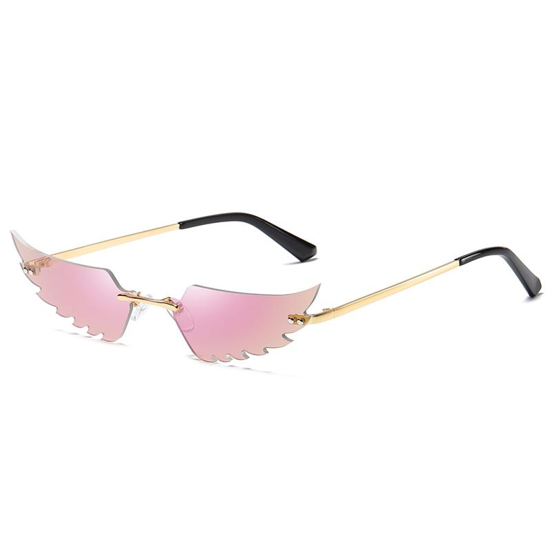 Angel Wings Sunglasses Sunglasses Posh Loox Gold x Pink poshloox