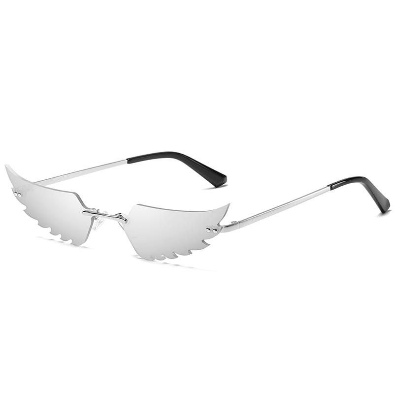 Angel Wings Sunglasses Sunglasses Posh Loox Silver poshloox