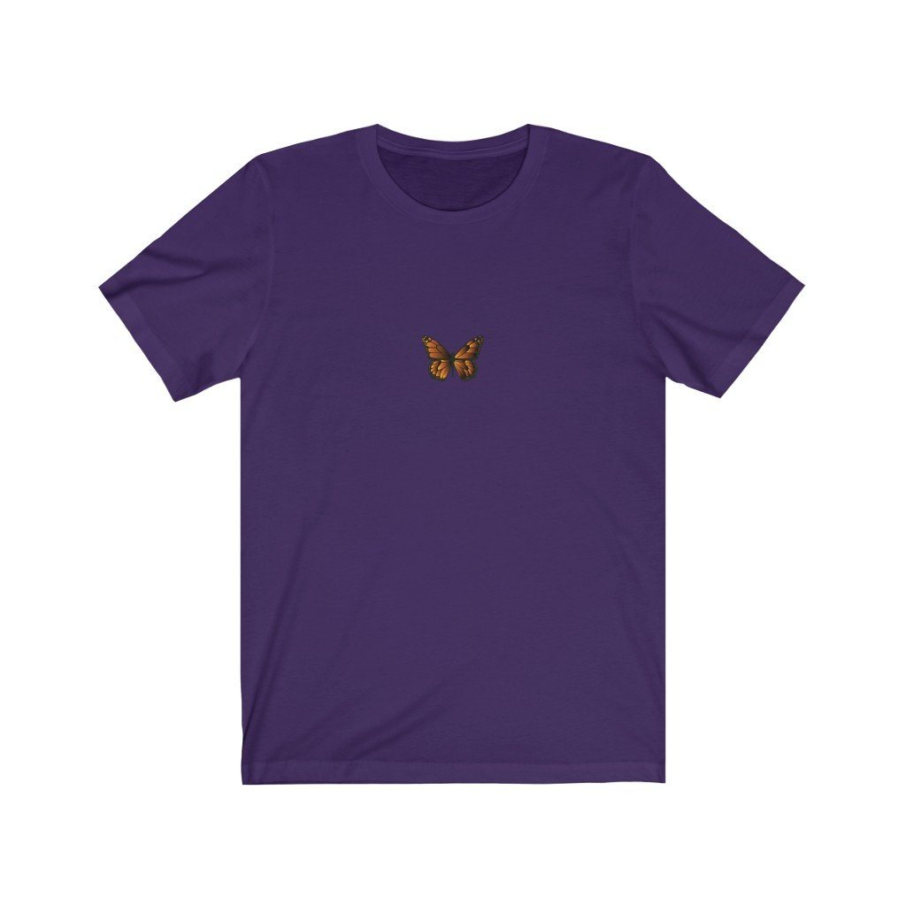 Butterfly Jersey Short Sleeve Tee T-Shirt Printify Team Purple S poshloox