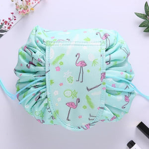 Convy Flat Cosmetic Bag Posh Loox Green Flamingo poshloox