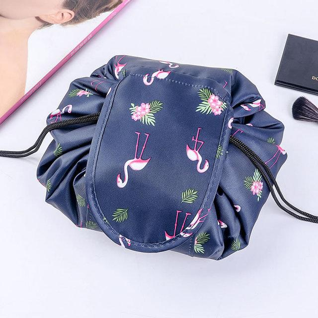 Convy Flat Cosmetic Bag Posh Loox Navy flamingo poshloox