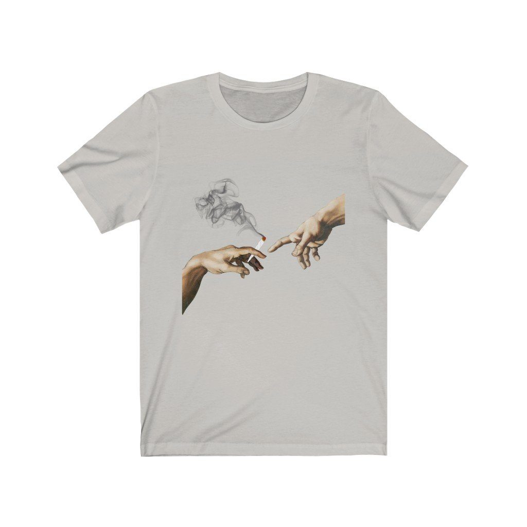 Creation of 420 Tee T-Shirt Printify Silver XS poshloox
