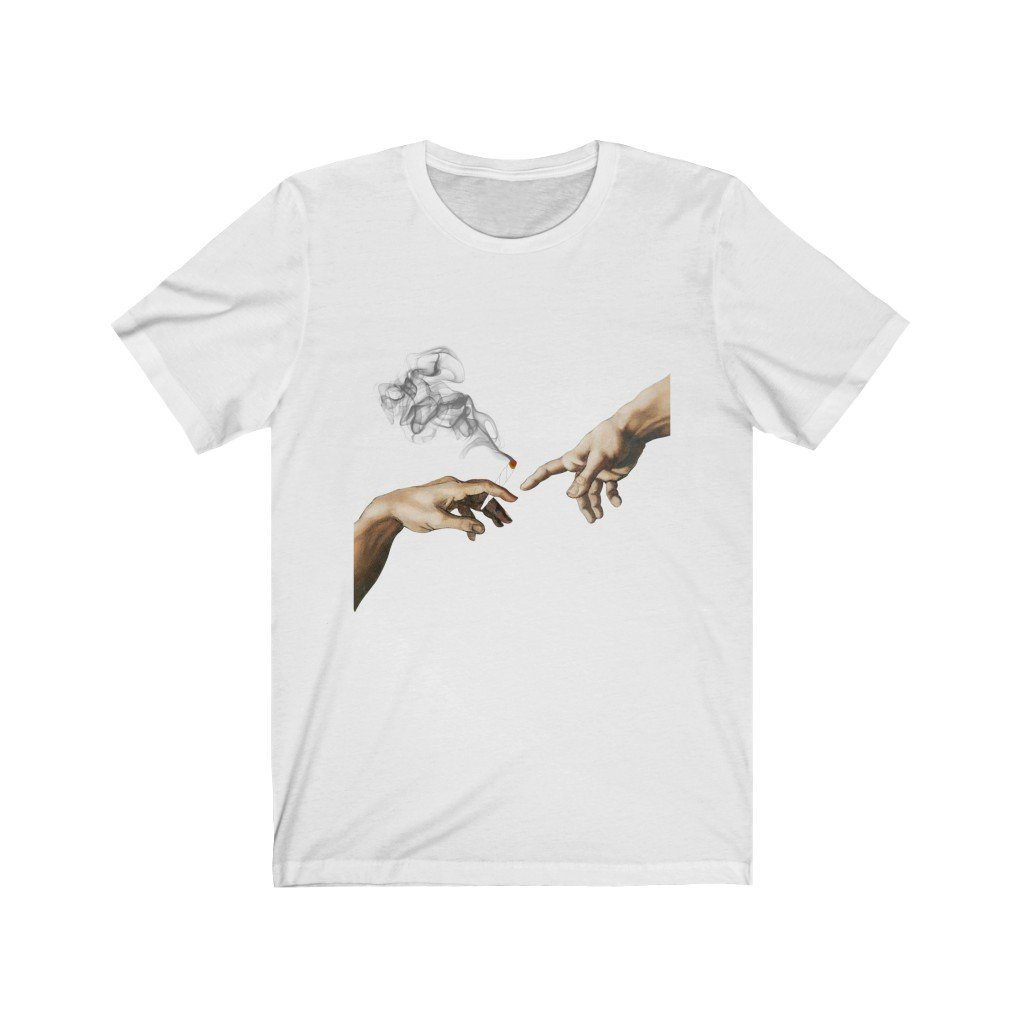 Creation of 420 Tee T-Shirt Printify White L poshloox