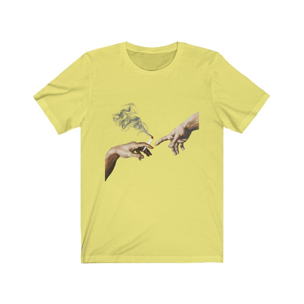 Creation of 420 Tee T-Shirt Printify Yellow XS poshloox