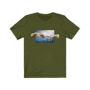 Creation of Adam Tee T-Shirt Printify Olive L poshloox