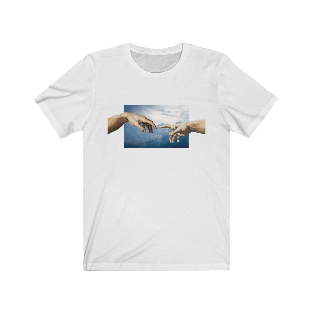 Creation of Adam Tee T-Shirt Printify White L poshloox