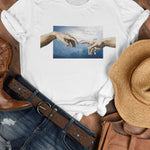 Creation of Adam Tee T-Shirt Printify White M poshloox