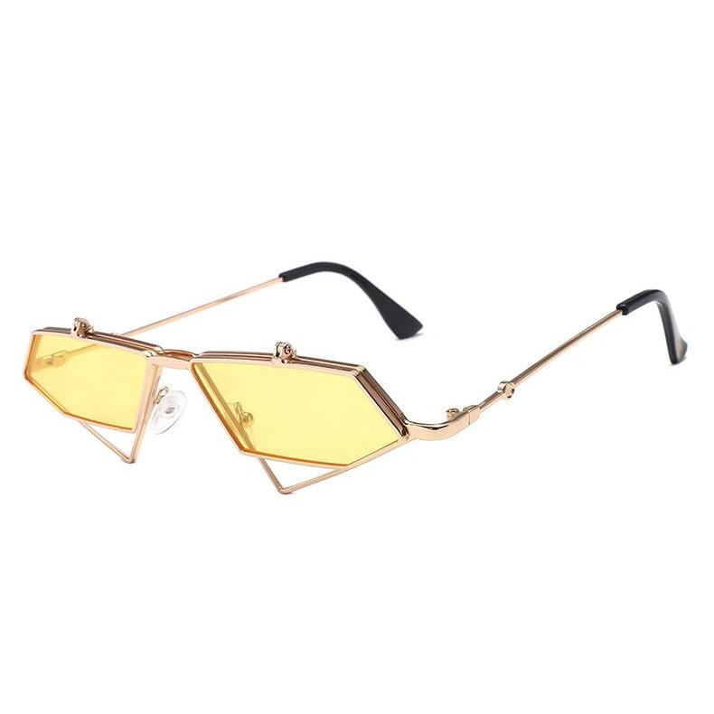 Extraterrestrial Flip-Up Sunglasses sunglasses Posh Loox Yellow poshloox
