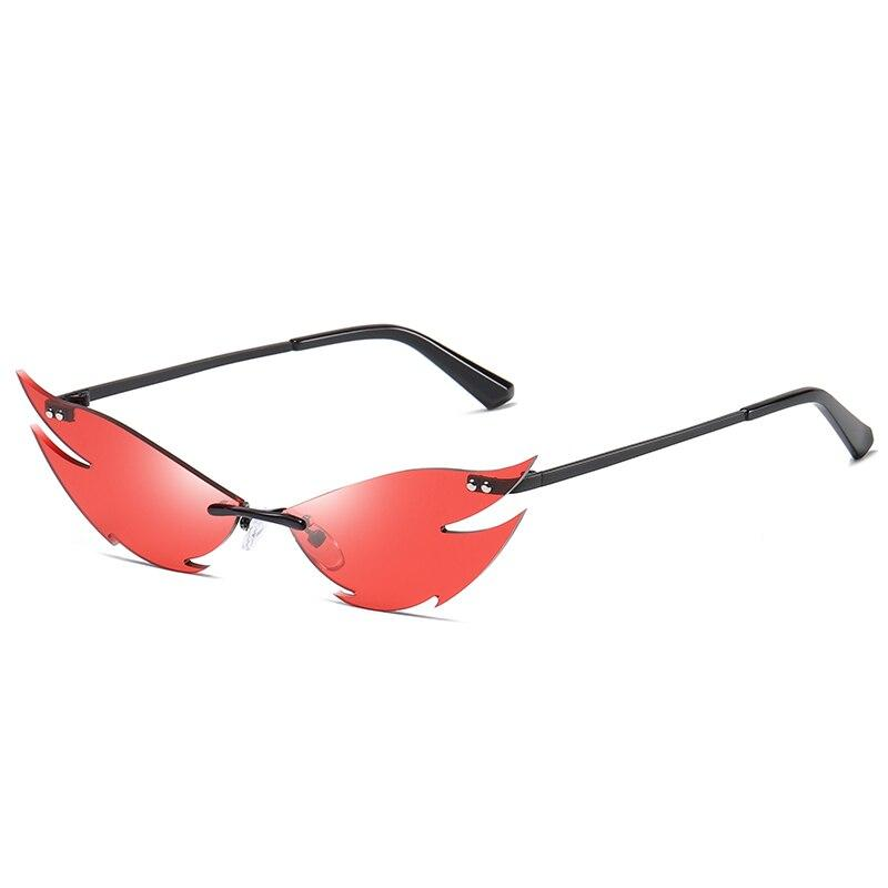 Flamin' Hot Sunglasses Sunglasses Posh Loox Black x Red poshloox