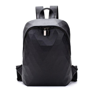 Geo Leather Backpack Posh Loox Black poshloox