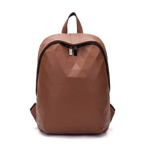 Geo Leather Backpack Posh Loox Brown poshloox