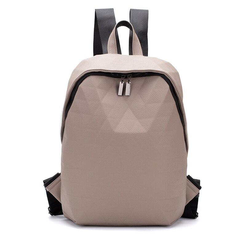 Geo Leather Backpack Posh Loox Cream poshloox