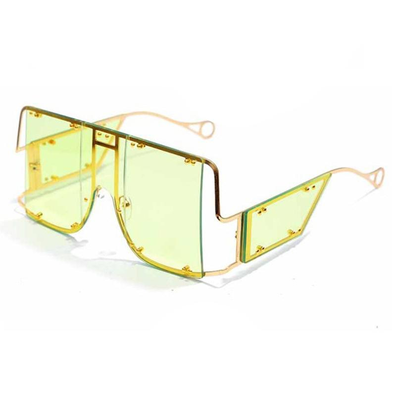 Glasses n' Studs V2 Sunglasses Sunglasses Posh Loox Gold x Lime poshloox