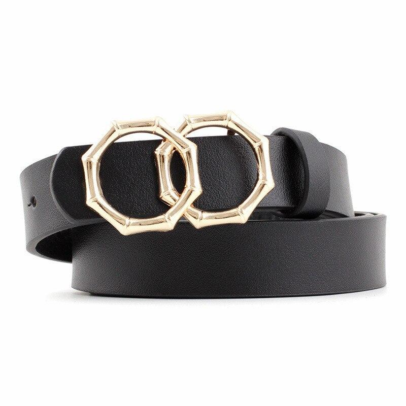 Octagon Belt Belt Posh Loox Black 105CM / 41.34IN poshloox