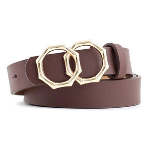 Octagon Belt Belt Posh Loox Coffee 105CM / 41.34IN poshloox