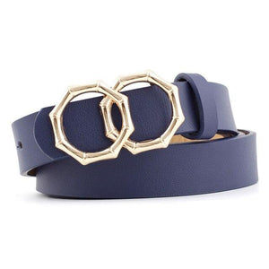 Octagon Belt Belt Posh Loox Royal Blue 105CM / 41.34IN poshloox