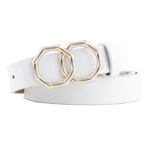 Octagon Belt Belt Posh Loox white 105CM / 41.34IN poshloox