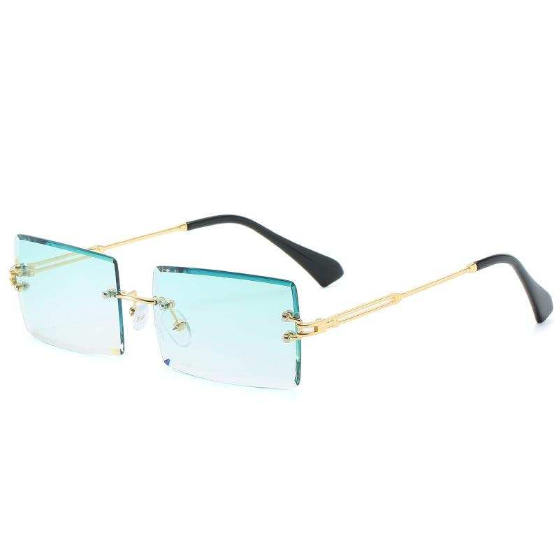 PL Baguette Sunglasses Sunglasses Posh Loox Gold x Mint poshloox