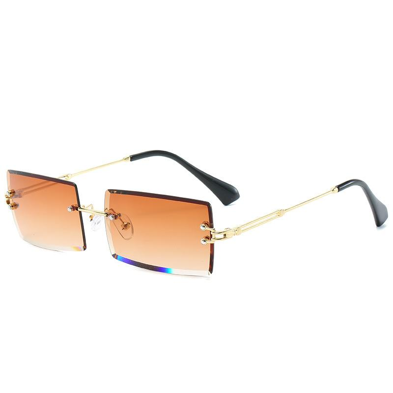 PL Baguette Sunglasses Sunglasses Posh Loox Gold x Orange poshloox