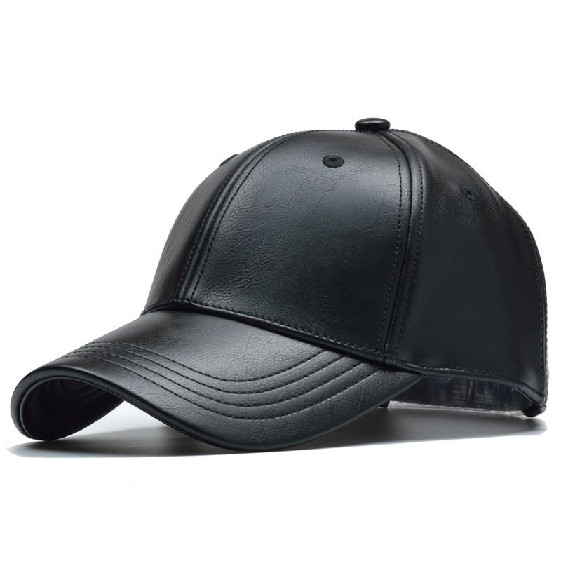 PL Leather Fantasy Cap Hat Posh Loox Black Adjustable poshloox