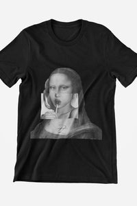 PL Limited Edition Mona Lisa Tee T-Shirt Printify Black XS poshloox